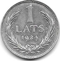 *latvia 1 Lats 1924   Km 7   Unc /ms63 - Latvia