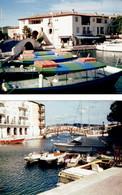 2 Photos Originales De Port-Grimaud (juin 1986 Et 1996) - Places