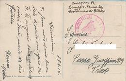 "AK POSTCARD WW1  AUSTRIA K.U.K. KRIEGSMARINE - S.M. MONARCH E DAMPFER PANNONIA  ""  VIAGGIATA 1917 - CASTELNUOVO CATTARO - Guerra"