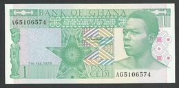 GHANA. 1 CEDI 7/2/1979. Pick 17a. UNC / NEUF. - Ghana