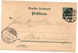 Entero Postal De Alemania 1898 - Stamped Stationery