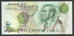 GHANA. 2 CEDIS  2/1/1977. Pick 14c. UNC / NEUF. - Ghana