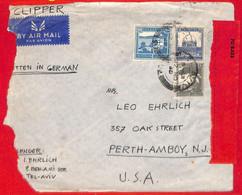 Aa2272 - PALESTINE - POSTAL HISTORY - COVER To USA  Via CLIPPER 1940 Censored - Palestine