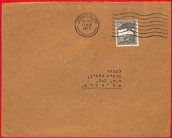 Aa2273 - PALESTINE - POSTAL HISTORY - Internal Mail COVER: Jerusalem -Tel Aviv - Palestine