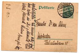 Entero Postal De Alemania Matasellos Tubingen 1914 - Stamped Stationery