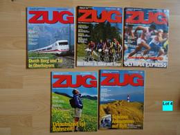 Historische Zeitschriften Eisenbahn Deutsche Bahn Zug Bahnverkehr Reisen Lot 4 - Cars & Transportation