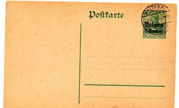 Entero Postal De Alemania Sobrecarga Belgica - Stamped Stationery