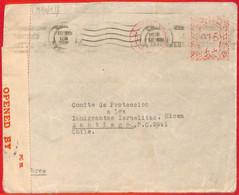 Aa2275  - PALESTINE - POSTAL HISTORY -  Censored  COVER To  CHILE   1940 - Palästina