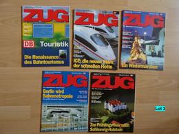 Historische Zeitschriften Eisenbahn Deutsche Bahn Zug Bahnverkehr Reisen Lot 3 - Cars & Transportation