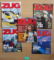 Historische Zeitschriften Eisenbahn Deutsche Bahn Zug Bahnverkehr Reisen Lot 1 - Cars & Transportation