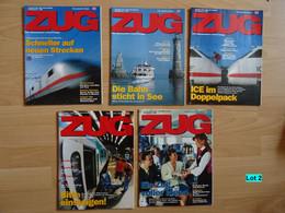 Historische Zeitschriften Eisenbahn Deutsche Bahn Zug Bahnverkehr Reisen Lot 2 - Cars & Transportation