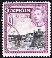 CYPRUS 1938 KGVI 9p Black & Purple SG159 Used - Chipre (...-1960)
