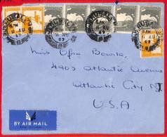 Aa2277  - PALESTINE - POSTAL HISTORY -   REGISTERED COVER To  USA  1947 - Palestine
