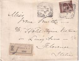 ITALIE 1910 LETTRE RECOMMQANDEE DE VENEZIA - Storia Postale