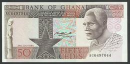 GHANA. 50 CEDIS  2/7/1980. Pick 22b. UNC / NEUF. - Ghana