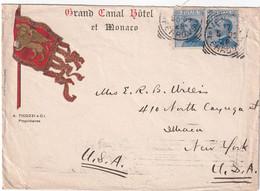 ITALIE 1909 LETTRE DE VENEZIA GRAND CANAL HOTEL - Marcofilía