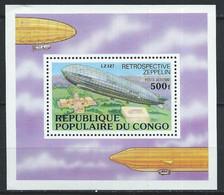 Congo-Brazzaville YT Bloc 11 Neuf Sans Charnière XX / MNH Zeppelin Aviation - Mint/hinged