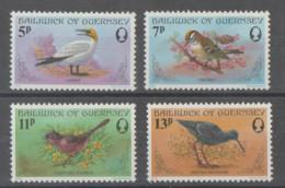 GUERNSEY     1978   **   MNH  YVERT    160/63     PAJAROS - Guernesey