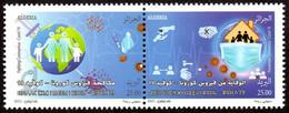 ALGERIE ALGERIA - 2v - MNH - COVID-19 - Coronavirus - Epidemic - Pandemic Deseases Health Santé Gesundheit Pandemie - Ziekte