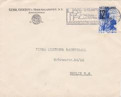 Poststuk Naar Berlijn 1932 Met NVPH 247 ANVV Zegel 12,5 Cent  Zeldzaam !! - Marcofilia