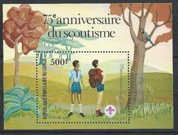 Congo-Brazzaville YT Bloc 29 Neuf Sans Charnière XX / MNH Scoutisme - Mint/hinged