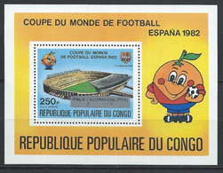 Congo-Brazzaville YT Bloc 32 Neuf Sans Charnière XX / MNH Football - Mint/hinged