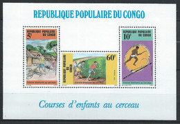 Congo-Brazzaville YT Bloc 40 Neuf Sans Charnière XX / MNH Sport - Mint/hinged