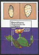 Congo-Brazzaville YT Bloc 44 Neuf Sans Charnière XX / MNH Cactus Fleur Flower - Mint/hinged