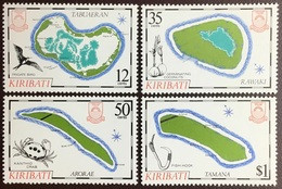Kiribati 1985 Island Maps Birds Crabs MNH - Kiribati (1979-...)