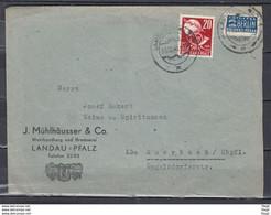 Brief Van Landau Pfalz Naar Auerbach (65) - French Zone