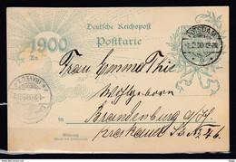 Postkaart Van Postdam 2 Naar Brandenburg - Stamped Stationery