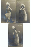 Gaby Deslys 1911     E VEIT. WIEN 1910 2465/66     3 Kaarten - Donne Celebri