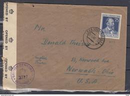 Censuur Leer (Ostfriesl) Naar Norwalk Ohio USA Britisch Censorship Germany  (525) - French Zone