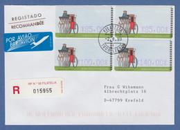 Portugal 1999 ATM Postkutsche Mi.-Nr. 19.2 4 Werte 85-85-100-140 Auf R-Brief - Vignette Di Affrancatura (ATM/Frama)