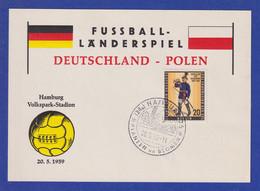 Berlin Mi-Nr 176 Mit So-O Auf Karte Fussball-Länderspiel Deutschland-Polen 1959 - Covers
