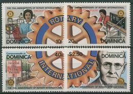 Dominica 1980 Rotary International 672/75 Postfrisch - Dominica (1978-...)