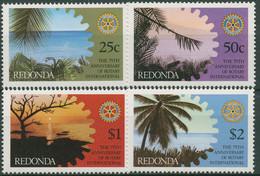 Antigua - Redonda 1980 Rotary Club International 45/48 Postfrisch - Antigua And Barbuda (1981-...)
