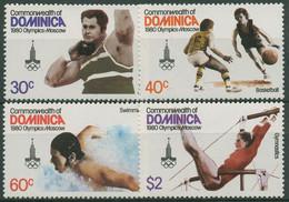Dominica 1980 Olympia Sommerspiele Moskau 667/70 Postfrisch - Dominica (1978-...)