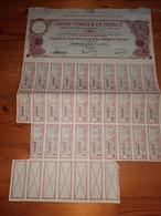 "1 ACTION  "" CREDIT FONCIER DE FRANCE "" Coupure De 500 Francs - 1913 - Mineral"