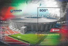 HUNGARY, 2020, MNH, SPORTS, STADIUMS, FOOTBALL, PUSKÁS ARENA BUDAPEST, S/SHEET - Other