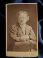 Photo CDV A. Lumière à Lyon - Portrait Homme, Circa 1870-75 L550-6 - Ancianas (antes De 1900)