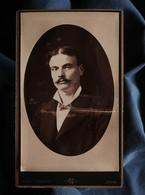 Photo CDV Noël Coudant à Lyon - Portrait Homme En Médaillon, Circa 1880-85 L550-6 - Ancianas (antes De 1900)