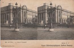 Belgique - ANVERS - Le Théâtre Flamand - Vues Stéréoscopiques Julien Damoy - Cartoline Stereoscopiche