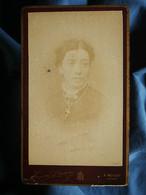 Photo CDV Louis Demay à Belley - Femme Portrait Nuage, Circa 1890 L550-6 - Ancianas (antes De 1900)