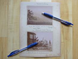 74 ASCENSION DU SEMNOZ Et De La Grande JEANNE 1893 POINT CULMINANT DE LA GRANDE JEANNE-  2 PHOTOGRAPHIES ANNECY - Ancianas (antes De 1900)