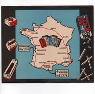 CYCLISME   TOUR DE FRANCE  1939 CARTE DU TOUR PUBLICITE RIZLA FORMAT 17.5 X 20 - Cycling