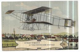 Haumont D' Haumont Je Vous Envoie Mon Souvenir Aéroplane Biplan - Otros Municipios