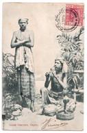 Snake Charmers - Ceylon - édit. Plâté  + Verso - Sri Lanka (Ceylon)