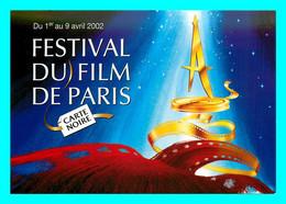 A757 / 345 Carte Pub Festival Du Film De Paris - Carte Noire 2002 - Reclame