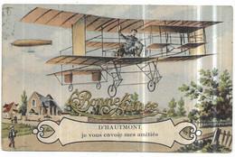 Haumont D' Haumont Je Vous Envoie Mes Amitiés Aéroplane Biplan Dirigeable Bonne Année - Otros Municipios